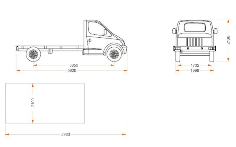 Dimensiones chasis cabina Maxus características técnicas Maxus