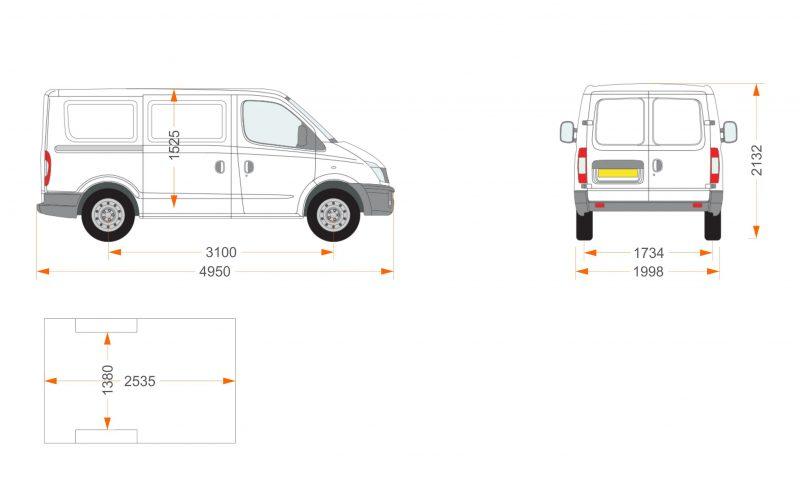 furgoneta pequeña para reparto
