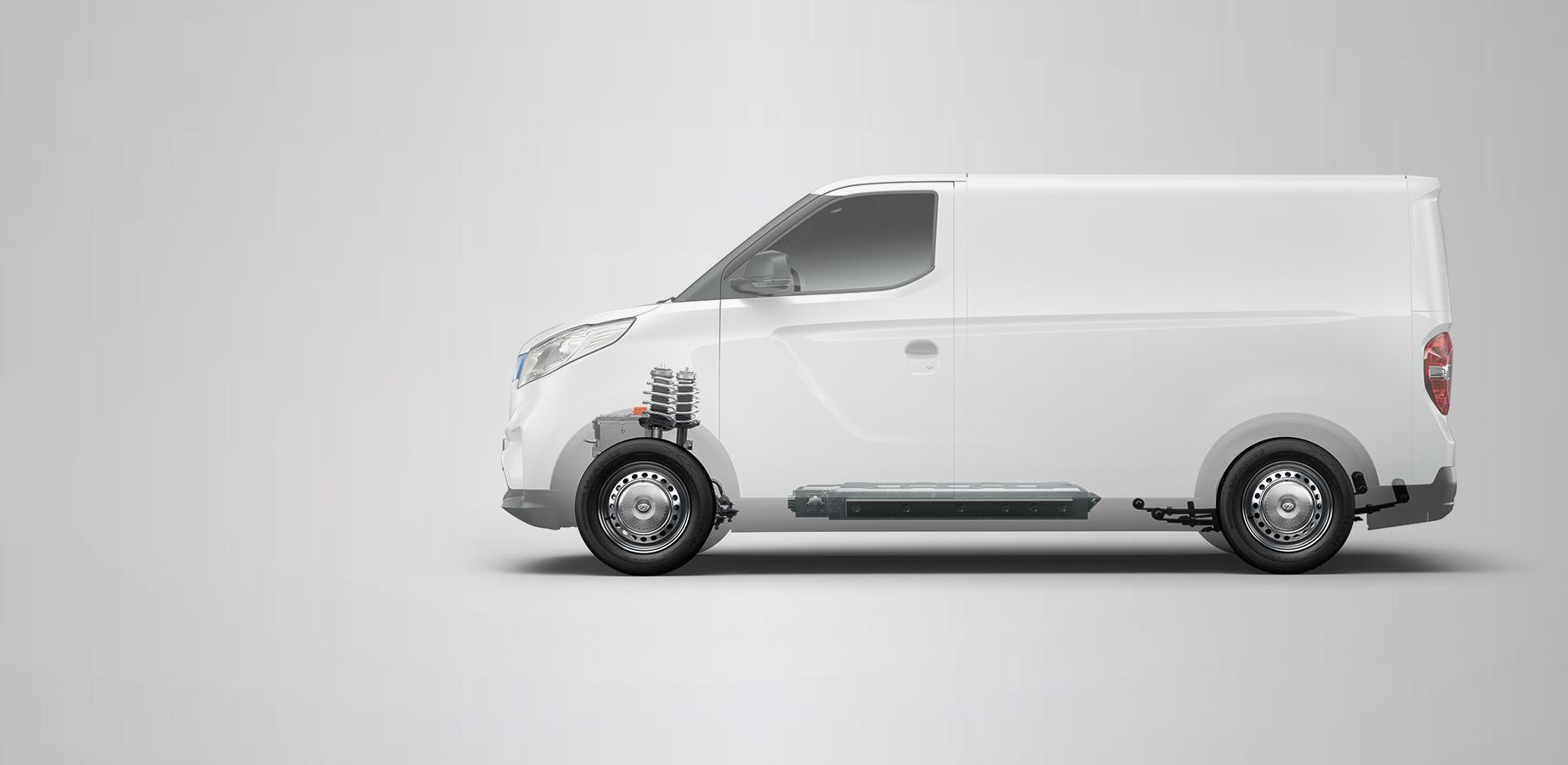 furgoneta eléctrica un poco más grande que la Nissan env200