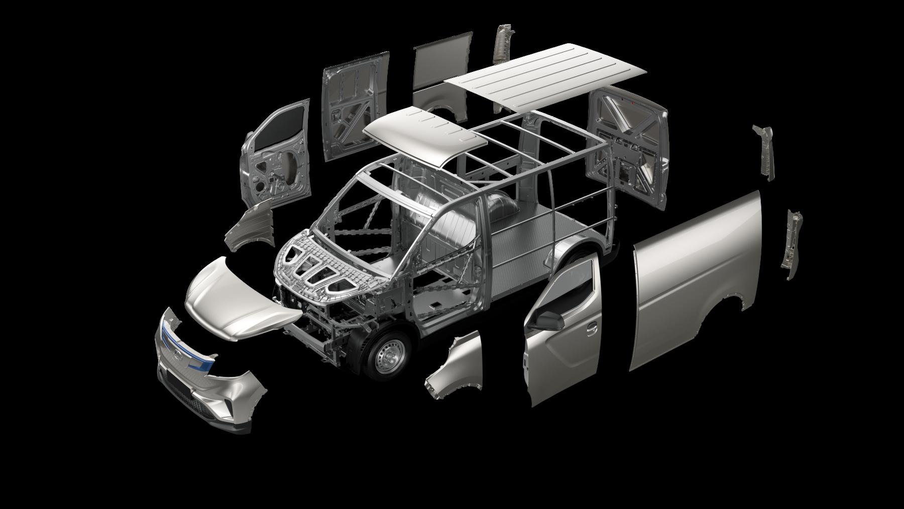 furgoneta eléctrica con máxima capacidad de carga