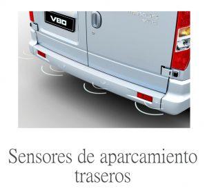 ayuda al aparcamiento de serie en una furgoneta