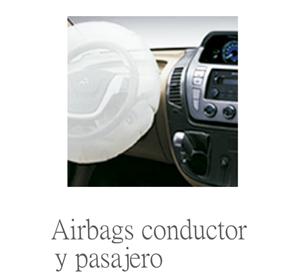 airbag del conductor y pasajero de serie en la furgoneta maxus